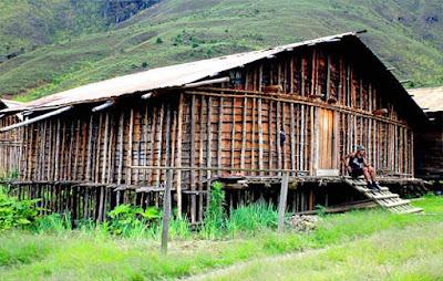 Gambar rumah adat papua barat (Rumah mod aki aksa)