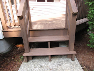 stair case to deck.