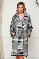 Palton SunShine negru elegant din lana