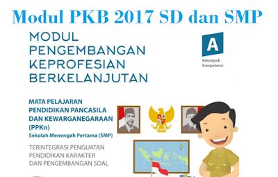 Modul SIM PKB SD dan SMP Semua Mapel Tahun 2017