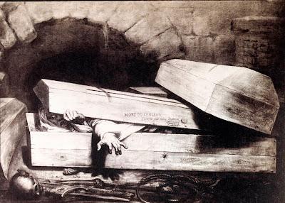 """La rapidesa a atorgar certificats de defunció i a practicar les inhumacions ha estat l'origen de narracions populars de colèrics que eren soterrats vius i després """"es despertaven"""", com ara la de José Rigores """"el muerto"""" a Benidorm o la rondalla Fèlix Arques! Fèlix Arques!, arreplegada per Leandre Ivorra a Alcoleja"""