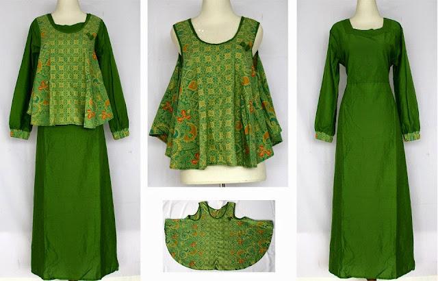 Contoh Model Baju Muslim Gamis Untuk Orang Gemuk