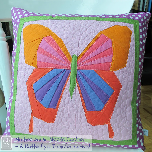 Multicoloured Moods Pillow Cushion by www.madebyChrissieD.com