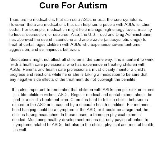 autism cure best answer…… | autismtips101