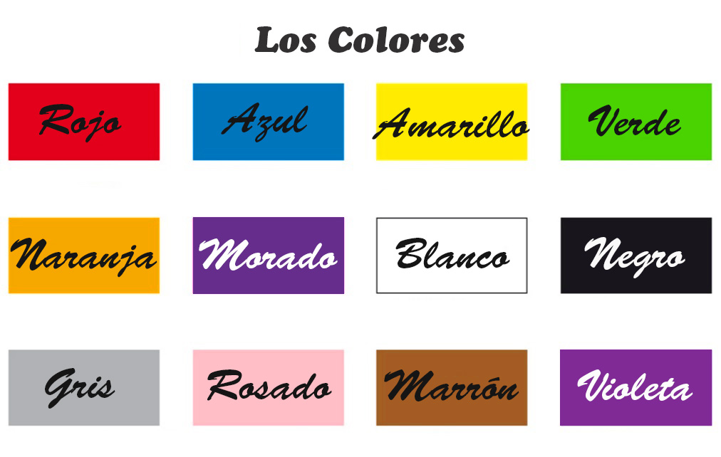 The colors in spanish for Colors in spanish