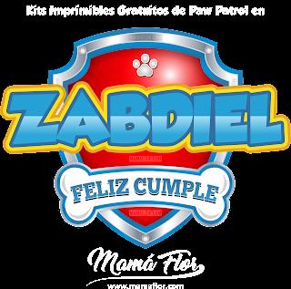 Logo de Paw Patrol: ZABDIEL