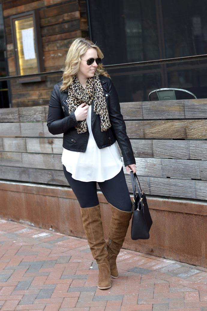 leather-jacket-leopard-scarf-outfit