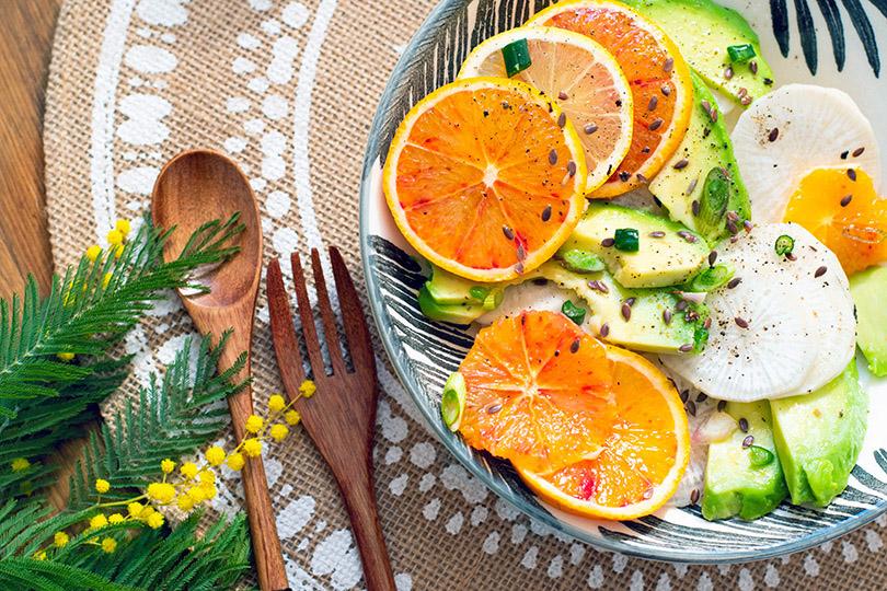 recette Salade radis noir et agrumes