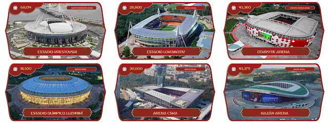 Russia World Cup 2018 Stadiums For PES 2017 PC