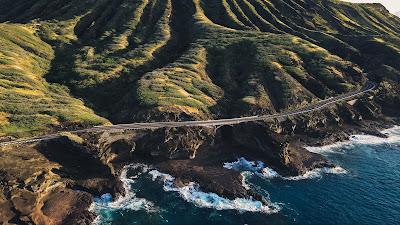Free Wallpaper HD Coastal Road, Island, Sea, Nature