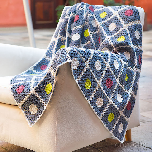 Britta crochet blanket pattern by Anabelia Craft Design