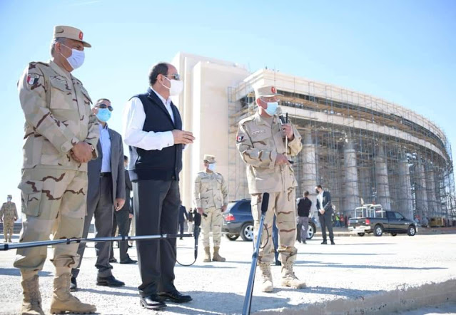 الرئيس  السيسي يتفقد العاصمة الادارية الجديدة
