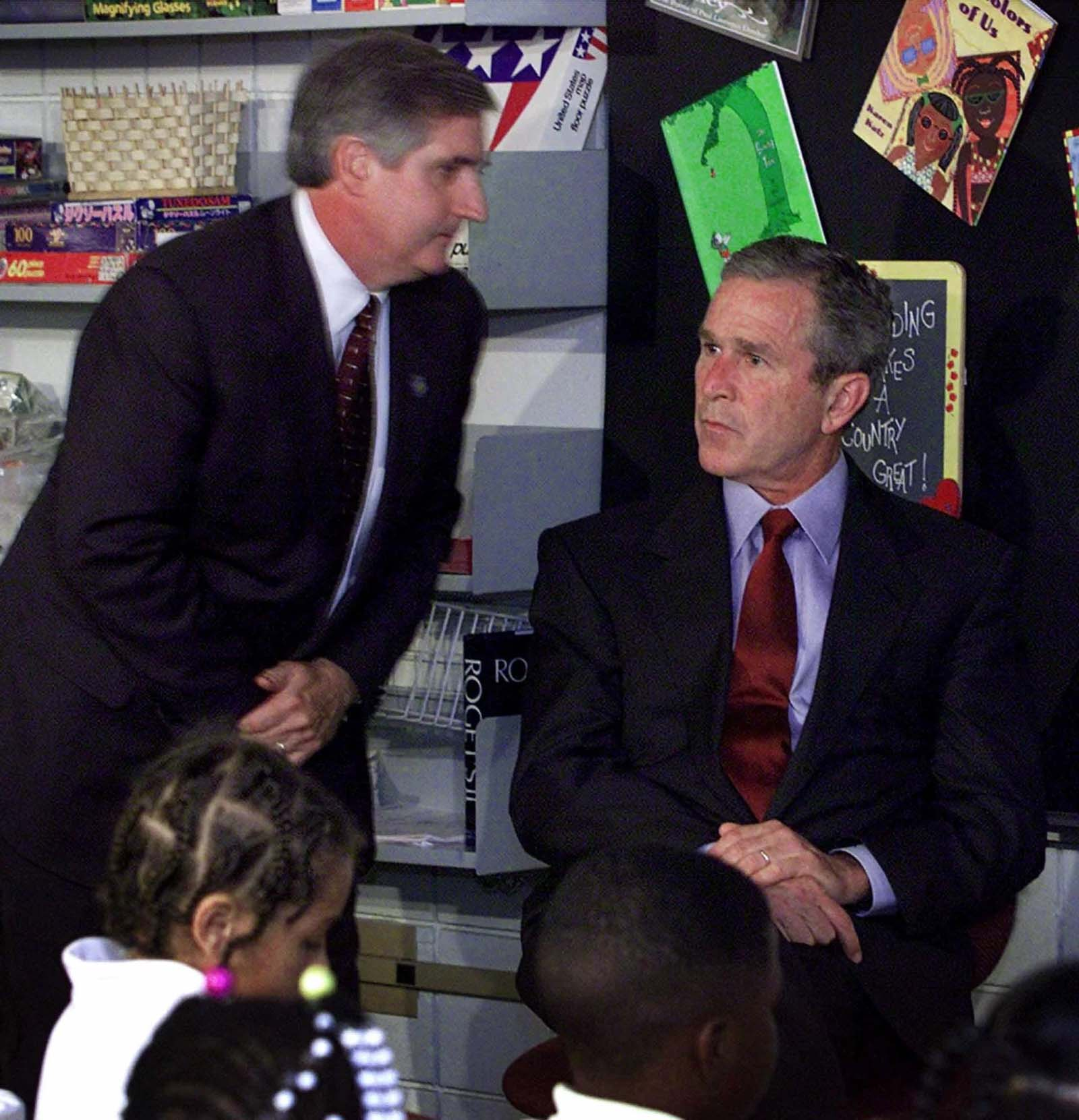president bush informed 9-11 attack photo