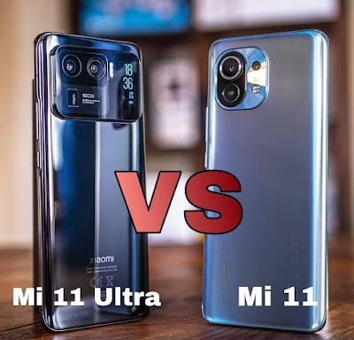مقارنة بين Xiaomi Mi 11 و xiaomi Mi 11 Ultra