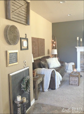 living room reveal painted walls using 2 different colors