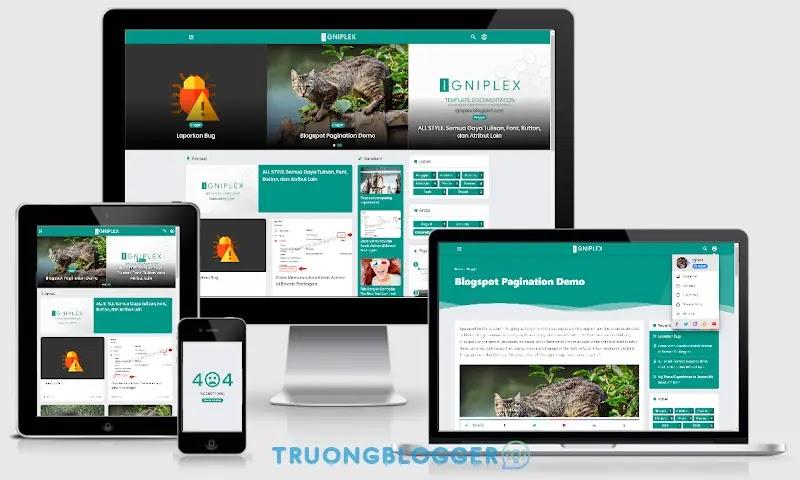 Igniplex Premium Responsive Blogger Template