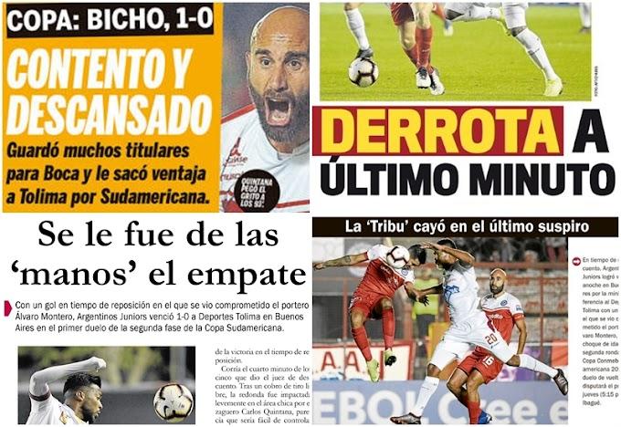 Galería: Así registró la prensa la derrota de DEPORTES TOLIMA ante Argentinos Juniors