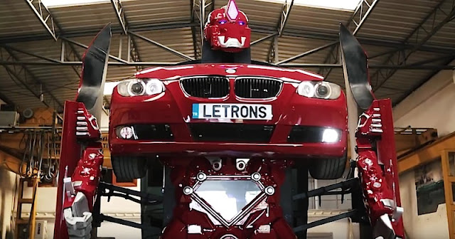 BMWがロボットに変形!トルコ企業が本格的なクルマ型ロボットの試作品を公開!