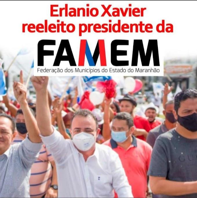 Erlanio Xavier reeleito Presidente da FAMEM