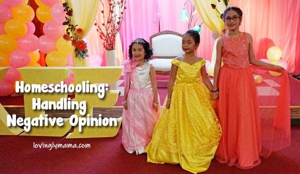 homeschooling in Bacolod - handling negative opinion about homeschooling - Bacolod mommy blogger - homeschooling tips- homeschooling in the Philippines - Filipino homeschoolers - family travel