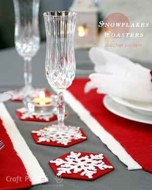 Descanso de copos Para a Ceia de Natal