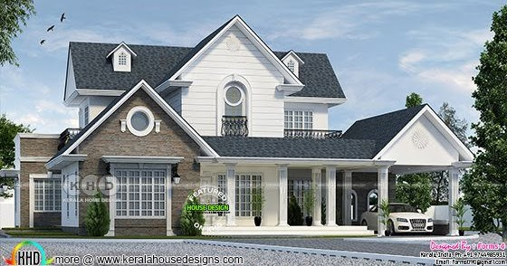 european-style-house-thumb Kerala Home Design With Long Veranda on modern mountain home designs, enclosed pergola designs, best energy efficient home designs, homes with flat roof designs, homes with carport designs, front verandah designs, mobile home designs, spanish home designs,