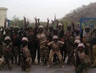 Soldiers, Nigerian solders celebrate