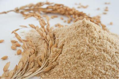 Rice bran mask