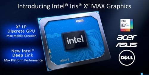 Intel released the Iris Xe Max graphics chip
