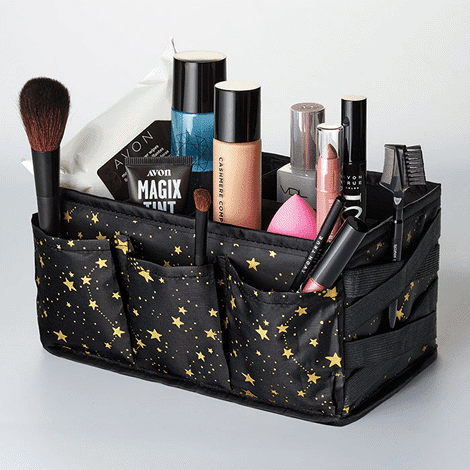 Limited edition.  Organize in style and have all your tools at the ready for every holiday look.