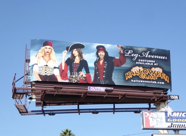 Leg Avenue costumes Halloween Club billboard