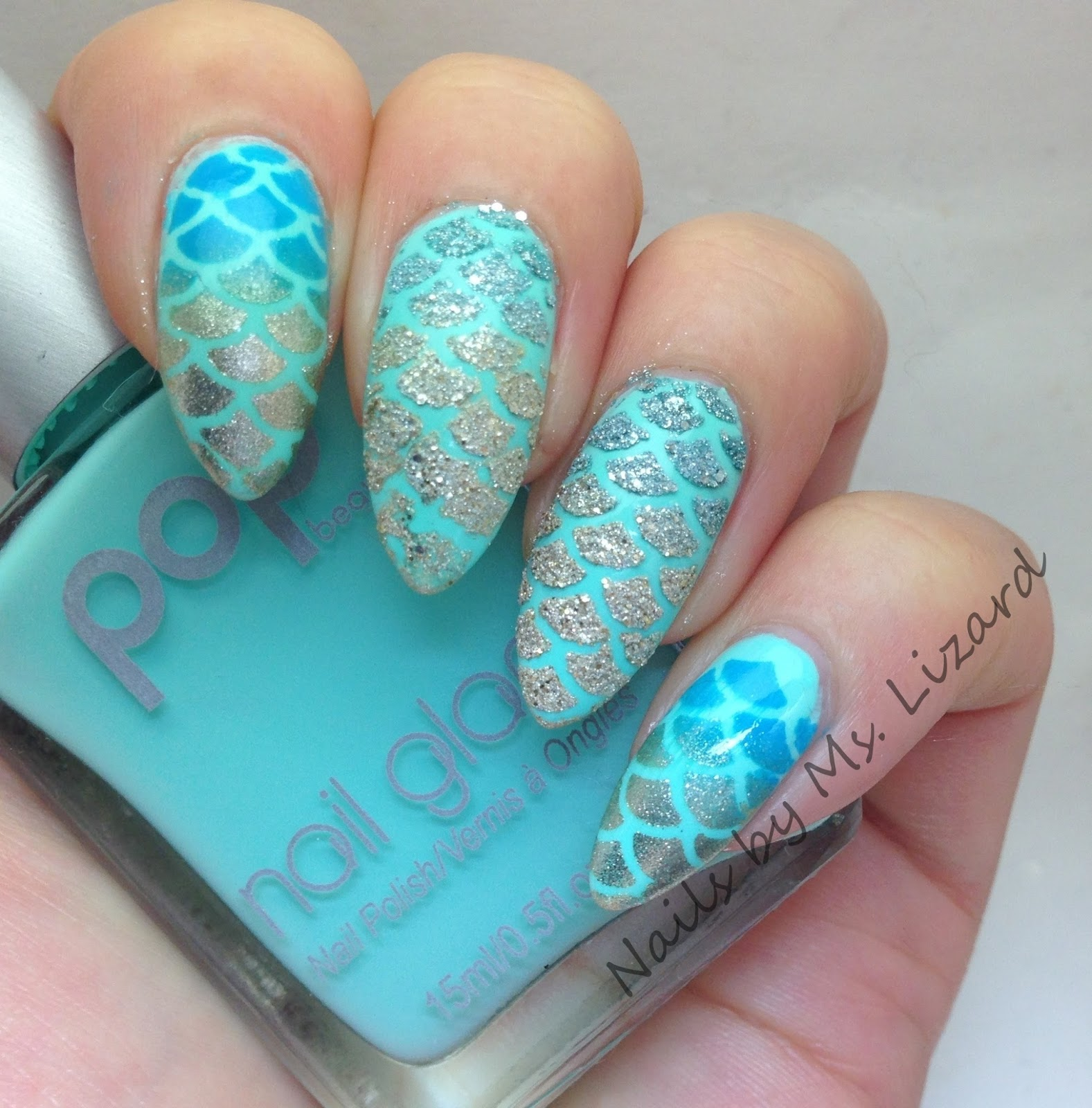 Nails by ms lizard born pretty store 12 tipssheet fish scale my sample manicure using the stencils prinsesfo Choice Image