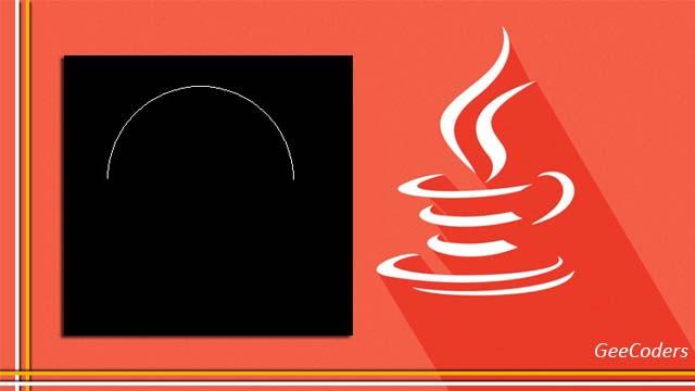 شرح كيفية رسم القوس في لغة الجافا | How to Drawing Arc java code