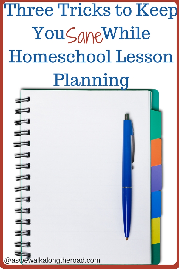 Easy homeschool lesson planning system