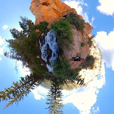 Tiny Planet Version of Lower view area of Cascade Waterfall