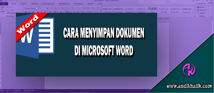 Cara Menyimpan Dokumen di Ms word Full Page