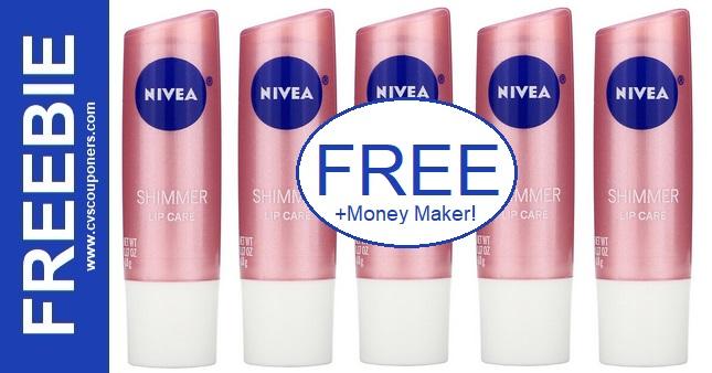 FREE Nivea Shimmer Lip Care Stick at CVS 8/29-9/4