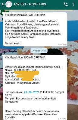 Pengalaman Vaksinasi COVID-19 di Kota Tangerang