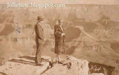 Herbert and Helen Parker at the Grand Canyon 1927 https://jollettetc.blogspot.com