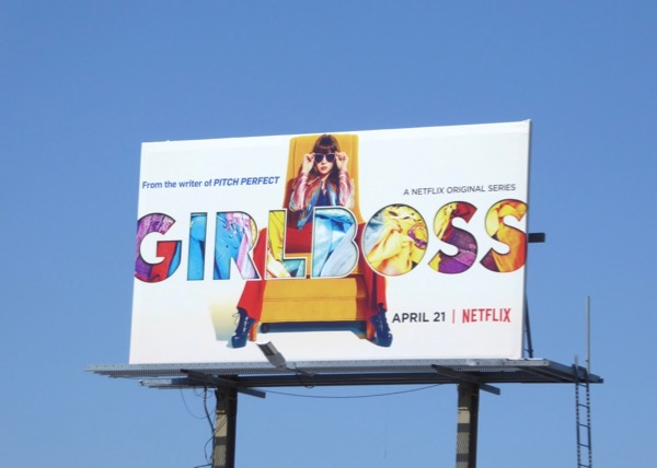 Girlboss series launch billboard