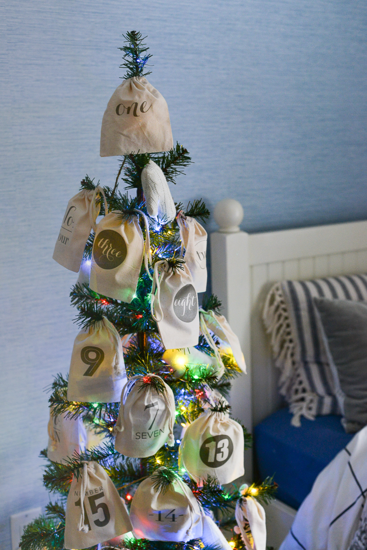 An Advent Christmas Tree With Stay At Home Activities - Rambling Renovators
