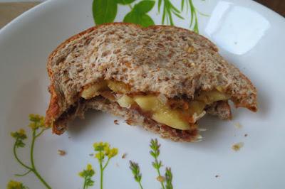 Peanut butter, banana and Parma ham sandwich