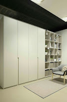 Bedroom storage white color wardrobe with shelves