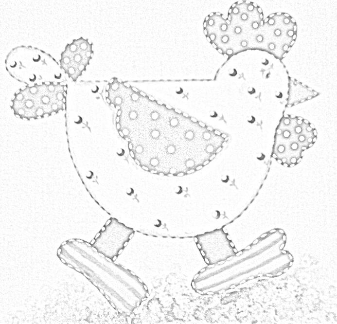 pintura em tecido risco galinha country