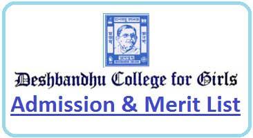 Deshbandhu Girls College Merit List