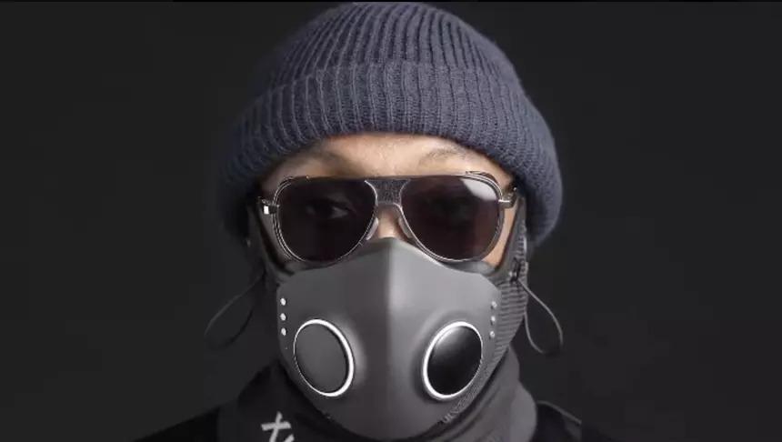 máscara protectora con Bluetooth