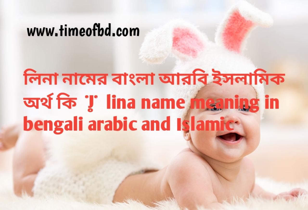 লিনা নামের অর্থ কী, লিনা নামের বাংলা অর্থ কি, লিনা নামের ইসলামিক অর্থ কি, lina name meaning in bengali