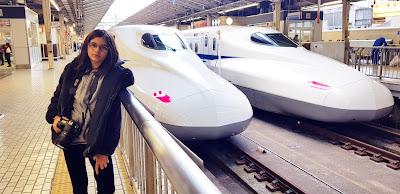Travelling the Shinkansen Train
