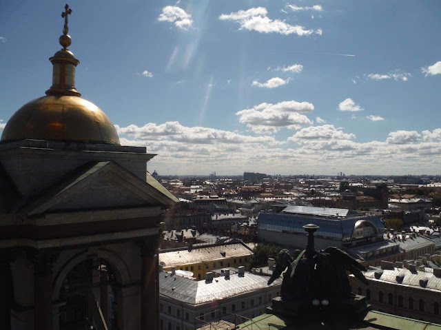 Panoramic view St. Petersburg from the dome at St. Isaac's Cathedral