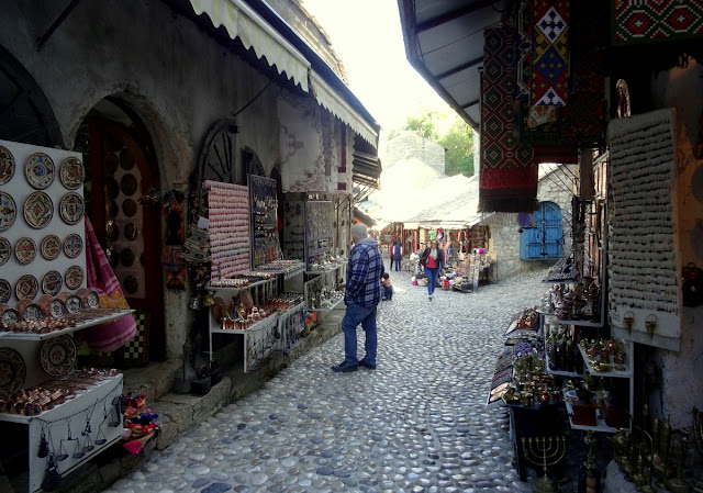 The shopping alleys of Mostar